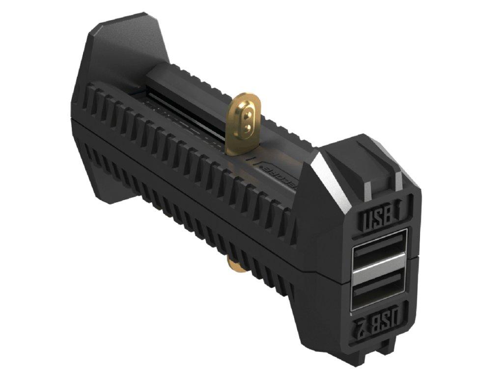 Nitecore -  Inteligentná rýchlonabíjačka a powerbank NITECORE F2 (IMR/ Li-ion)