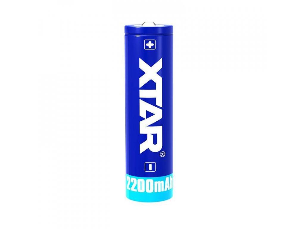 Xtar -  Akumulátor XTAR 18650 - 2200 mAh, Button Top, 3.7V, s ochranou, 4.5A