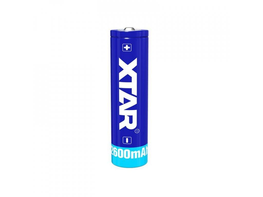 Xtar -  Akumulátor XTAR 18650 - 2600 mAh, Button Top, 3.7V, s ochranou, 4.5A