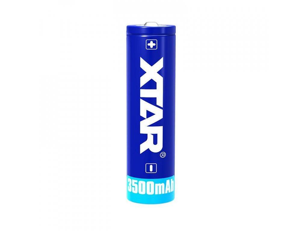 Xtar -  Akumulátor XTAR 18650 - 3500 mAh, Button Top, 3.7V, s ochranou, 10A