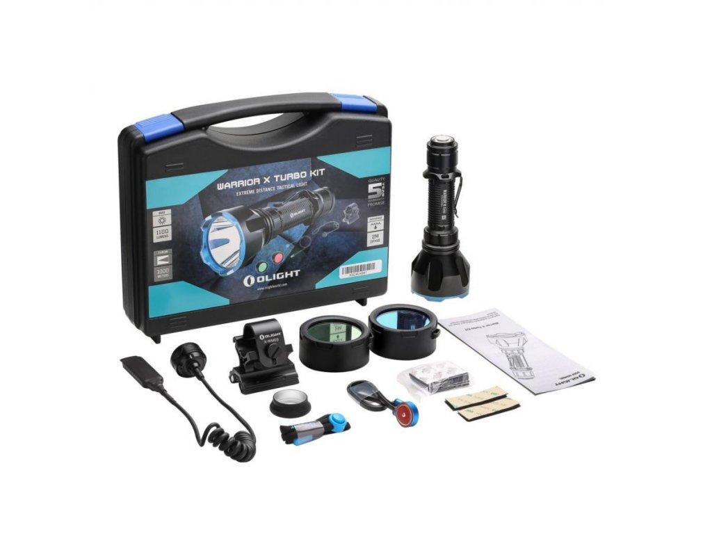 Olight -  Poľovnícka LED baterka Olight Warrior X Turbo KIT 1100 LM