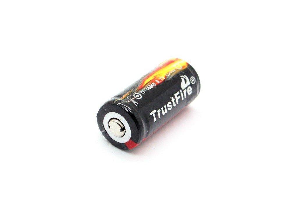 Trustfire -  Akumulátor TRUSTFIRE - 16340/CR123A (Li-ion) 880 mAh, BUTTON, s ochranou