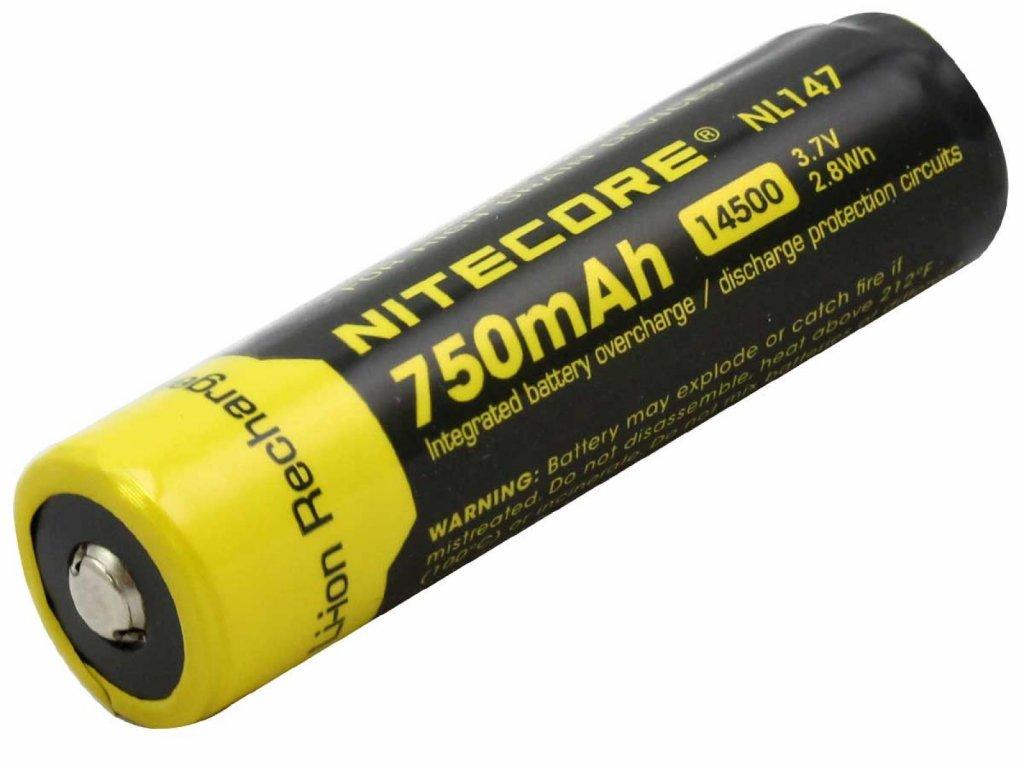 Nitecore -  Akumulátor NITECORE NL147 - 14500, 750mAh, 3.7V Li-ion