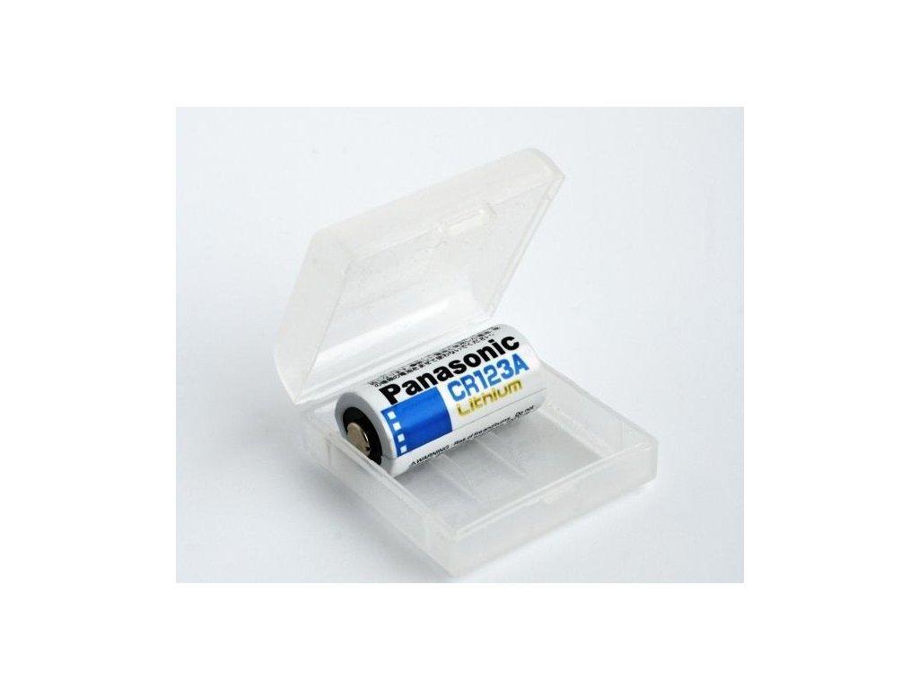 Ochranný box-púzdro na Li-ion akumulátory 2x16340/CR123