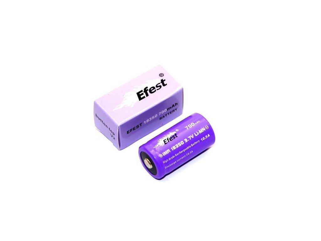 Efest -  Akumulátor EFEST V1 - IMR18350 (Li-Mn) 700 mAh, BUTTON, bez ochrany