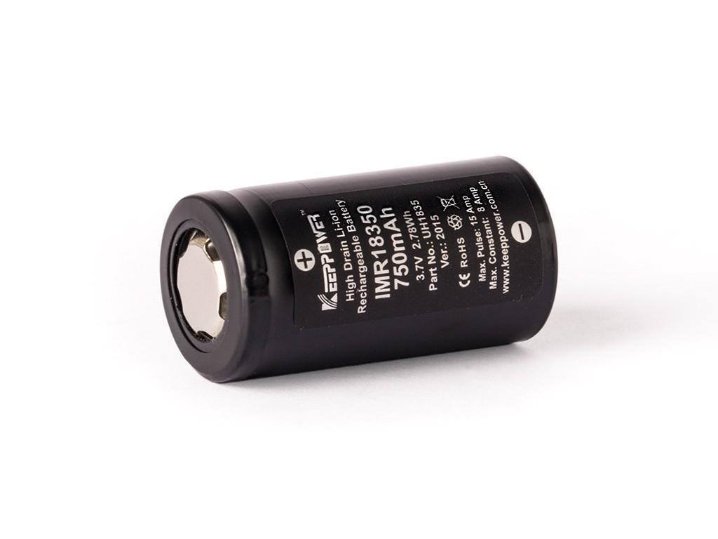 Keeppower -  Akumulátor KEEPPOWER - IMR18350 (Li-ion) 750 mAh, FLAT, bez ochrany