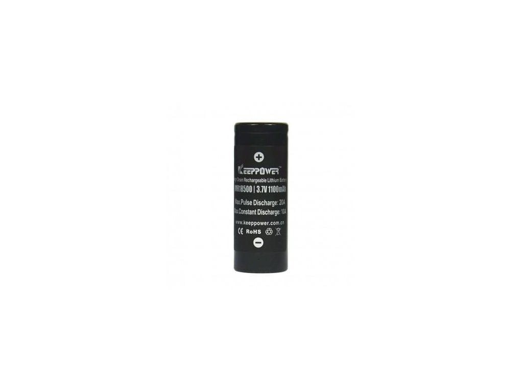 Keeppower -  Akumulátor KEEPPOWER - IMR18500 (Li-ion) 1100 mAh, FLAT, bez ochrany
