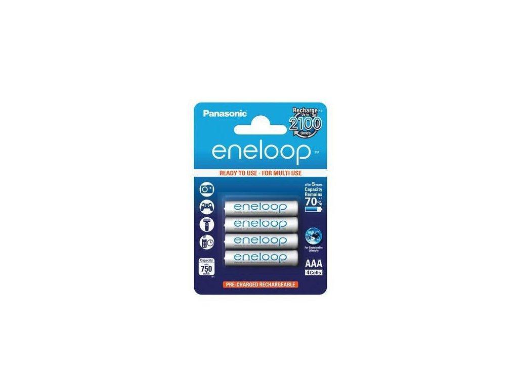 Panasonic Eneloop -  Akumulátory PANASONIC ENELOOP AAA - Ni-MH (AAA Micro), 750 mAh - balenie 4ks