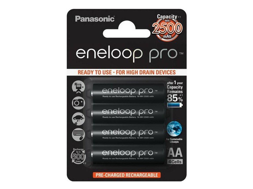 Panasonic Eneloop -  Akumulátory PANASONIC ENELOOP PRO - Ni-MH (AA Mignon), 2450 mAh - balenie 4ks