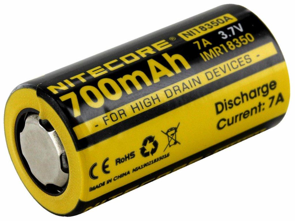 Nitecore -  Akumulátor NITECORE NL18350A - IMR 18350, 700 mAh, chránený