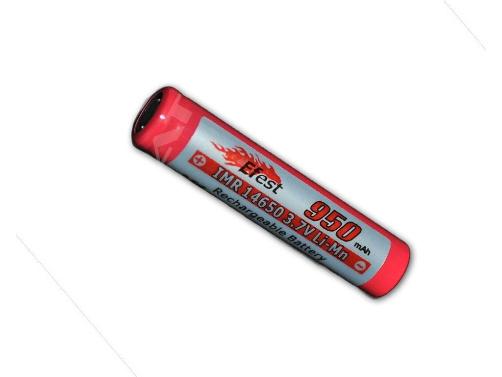 Efest -  Akumulátor EFEST - IMR14650 (Li-Mn) 950 mAh, FLAT, bez ochrany