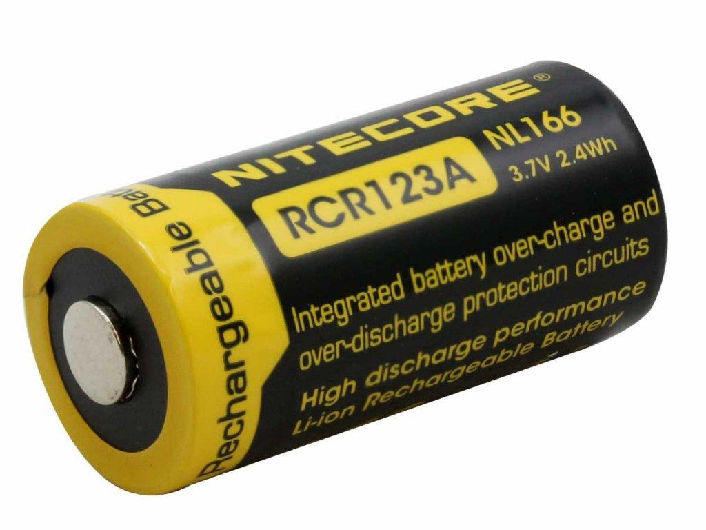 Nitecore -  Akumulátor NITECORE NL166 - RCR123A, 650mAh, chránený