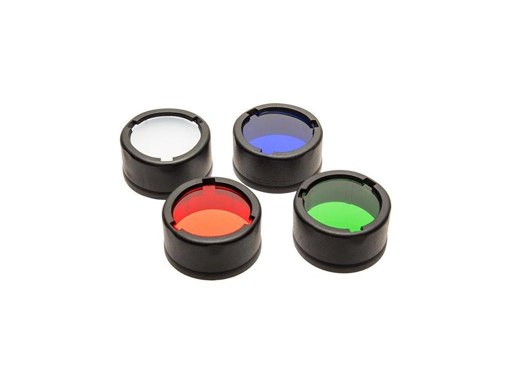 Nitecore -  Filter červený, zelený, modrý, rozptylový 34 mm