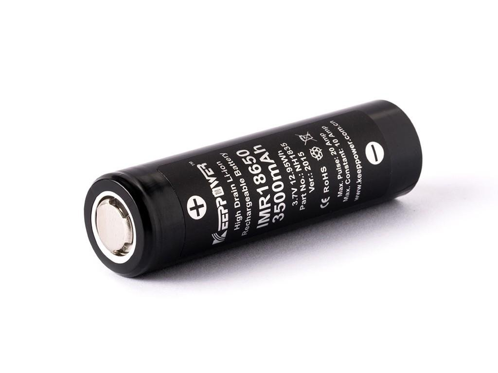 Keeppower -  Akumulátor KEEPPOWER - IMR18650 (Li-ion) 3500 mAh, FLAT, bez ochrany