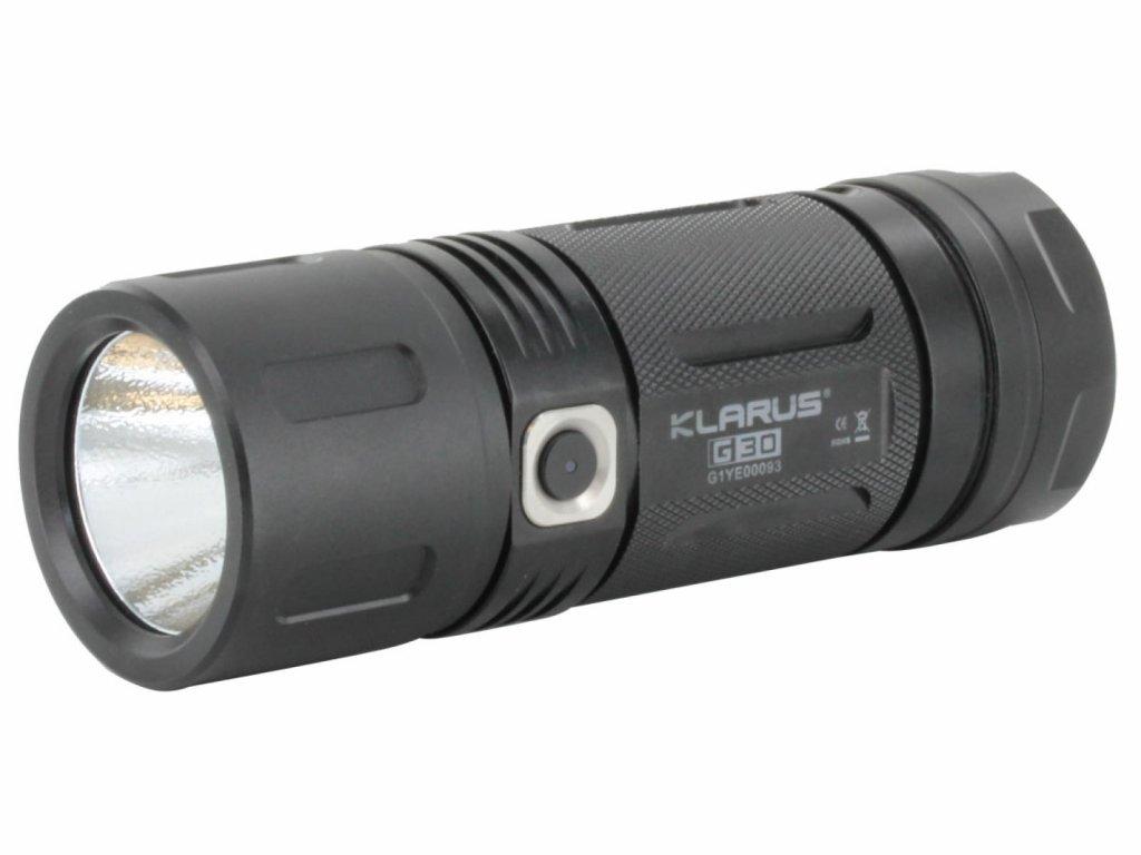 Klarus -  Praktická LED Baterka KLARUS G30 s výstupom LED 2450 LM