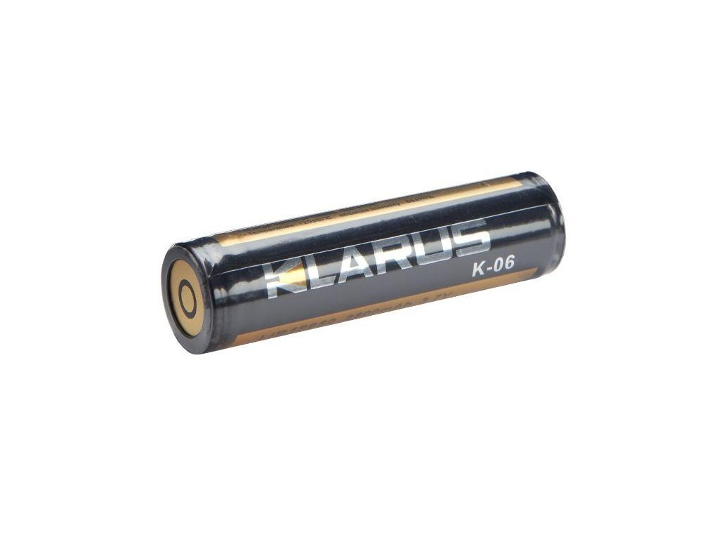 Klarus -  Akumulátor KLARUS 18650 K-06 - 2600mAh 3,7V, Flat Top, s ochranou
