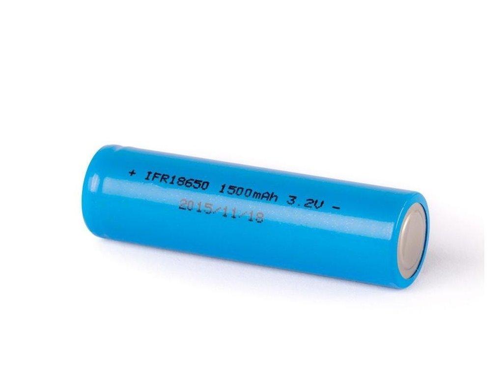 IFR -  Akumulátor IFR 18650 - LiFePo4, 18650, 1400mAh, Flat Top, bez ochrany