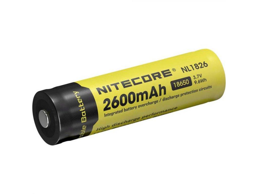 Nitecore -  Akumulátor NITECORE NL1826 - 18650, 2600 mAh, chránený