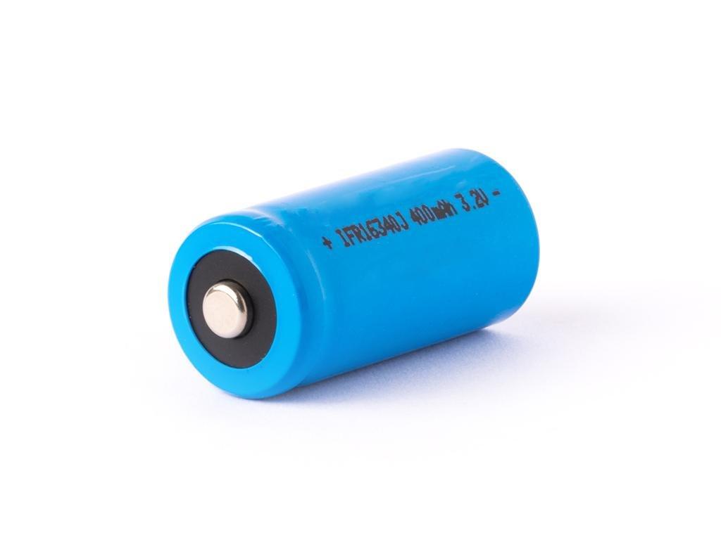 IFR -  Akumulátor IFR - 16340, 400 mAh, Button Top, bez ochrany, 3.2V, LiFePo4