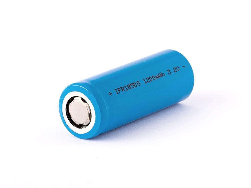 IFR -  Akumulátor IFR - 18500, 1200 mAh, Flat Top, bez ochrany, 3.2V, LiFePo4