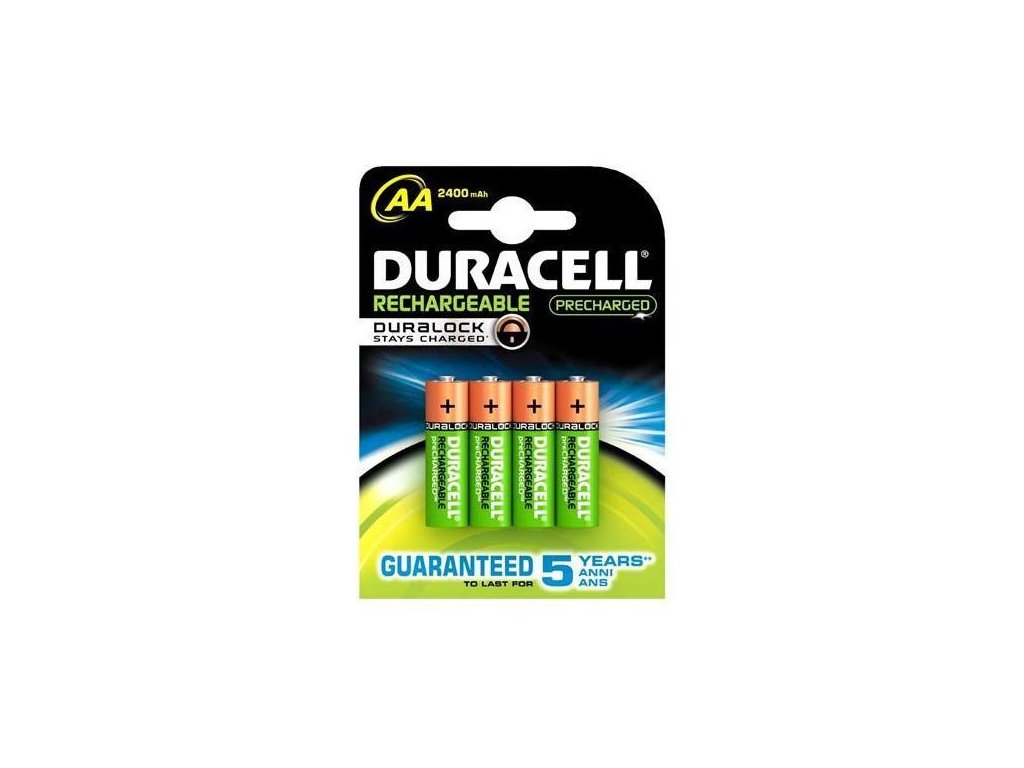 Duracell -  Akumulátory DURACELL AA (Mignon) - 2400mAh, 1.2V, Button Top, Ni-MH - balenie 4ks