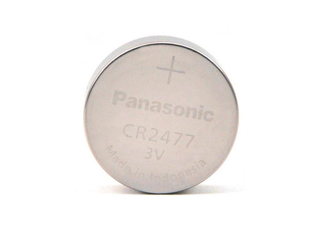 Panasonic -  Batéria PANASONIC CR2477 - plochá lithium batéria, 1000mAh, 3V,  - nenabíjateľná