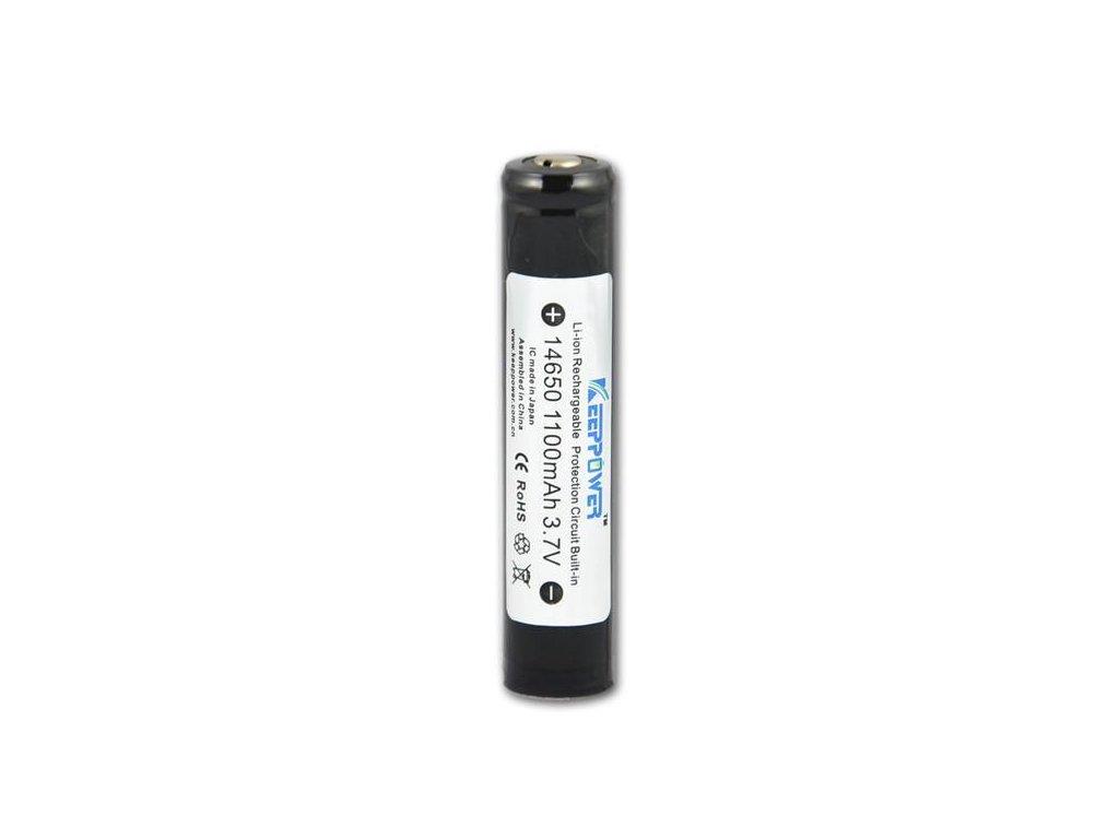 Keeppower -  Akumulátor KEEPPOWER 14650 - 1100 mAh, Button Top, 3.7V, s ochranou, 1.6A