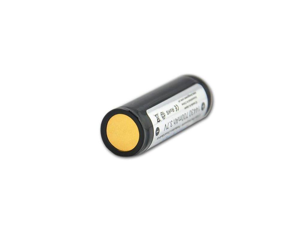 Keeppower -  Akumulátor KEEPPOWER 14430 - 700 mAh, Button Top, 3.7V, s ochranou, 1.4A