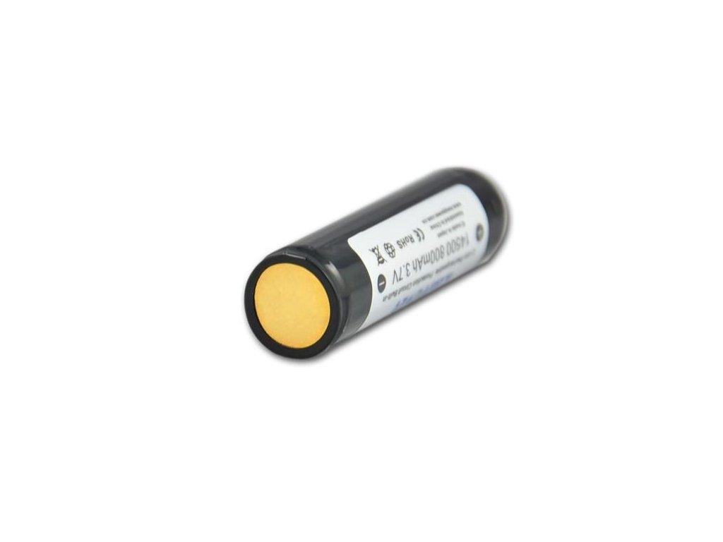 Keeppower -  Akumulátor KEEPPOWER 14500 - 800 mAh, Button Top, 3.7V, s ochranou, 1.6A