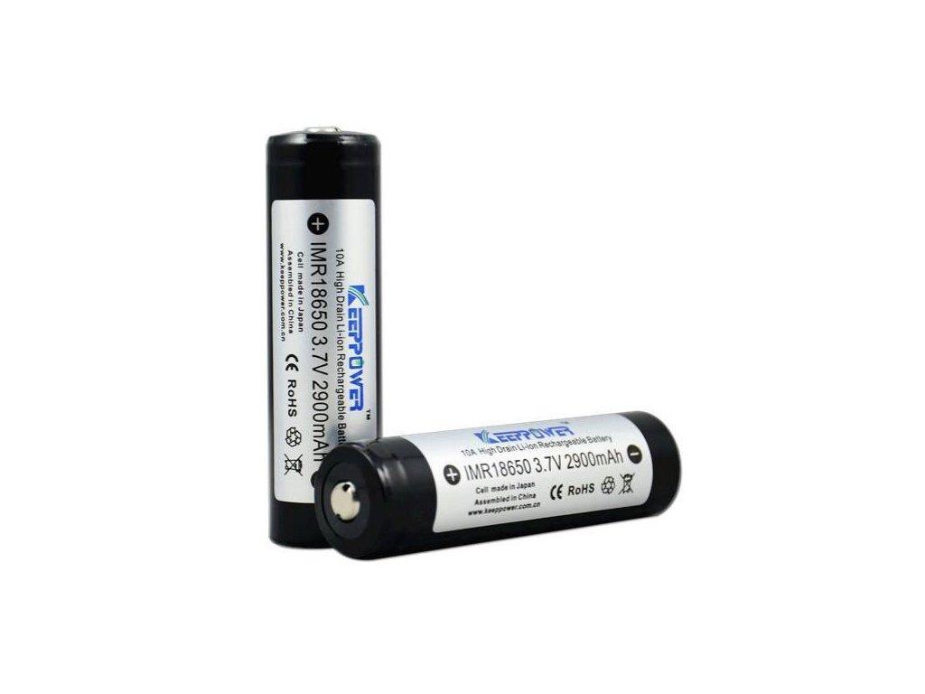 Keeppower -  Akumulátor KEEPPOWER IMR18650 - 2900 mAh, Button Top, 3.7V, bez ochrany, 10A