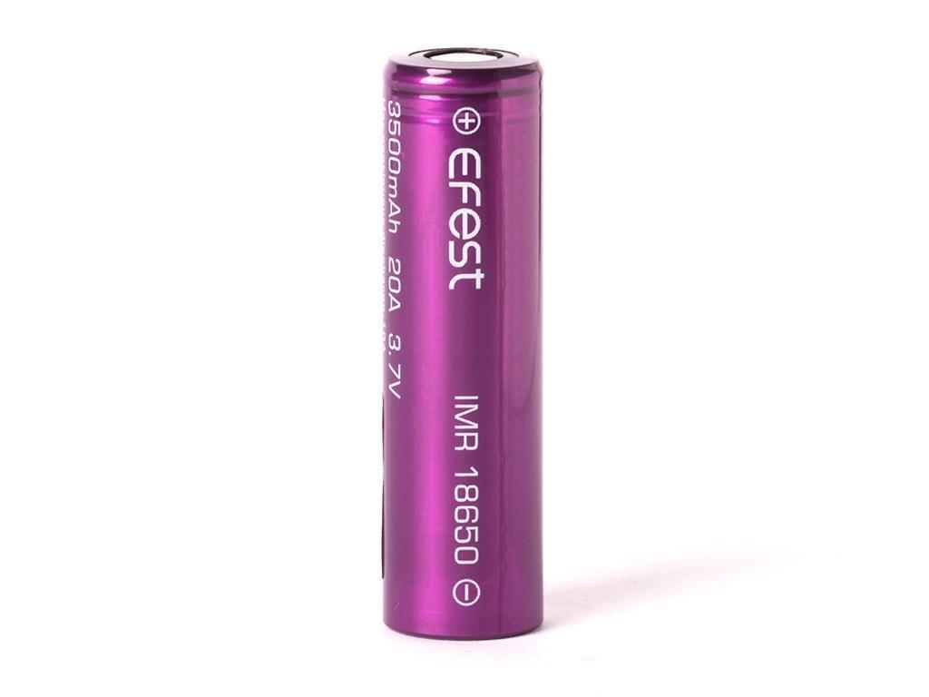 Efest -  Akumulátor EFEST IMR18650 - 3500 mAh, Flat Top, 3.7V, bez ochrany, 20A