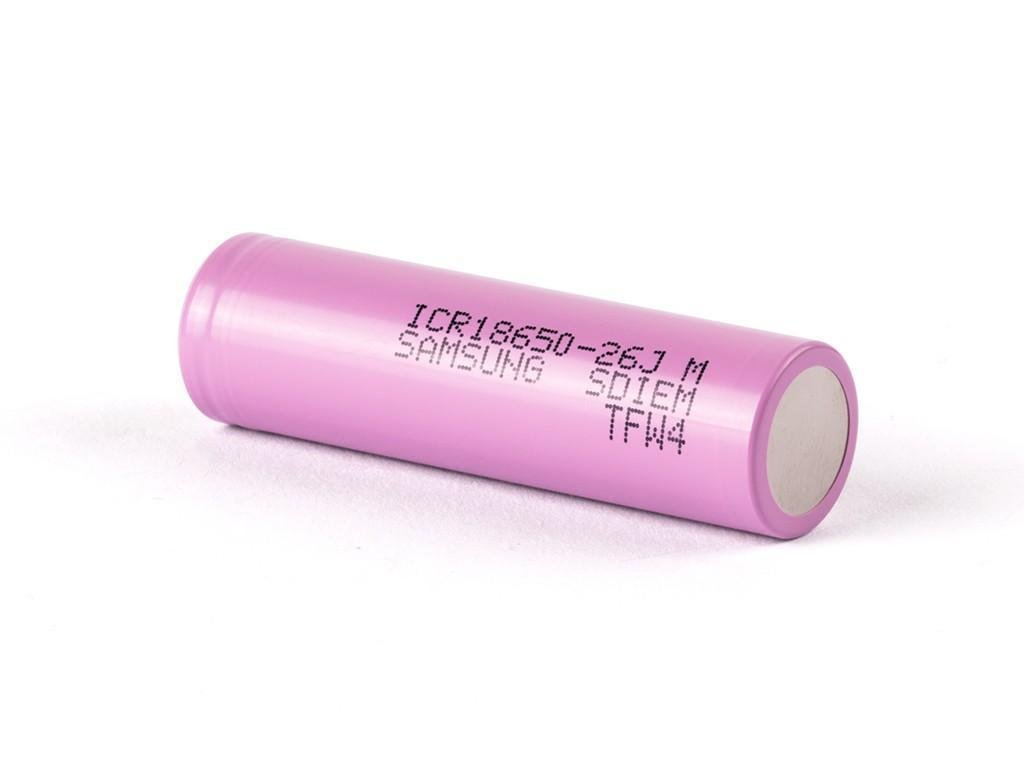 Samsung SDI -  Akumulátor SAMSUNG SDI ICR18650-26J - 2600 mAh, Flat Top, 3.7V, bez ochrany, 5.2A