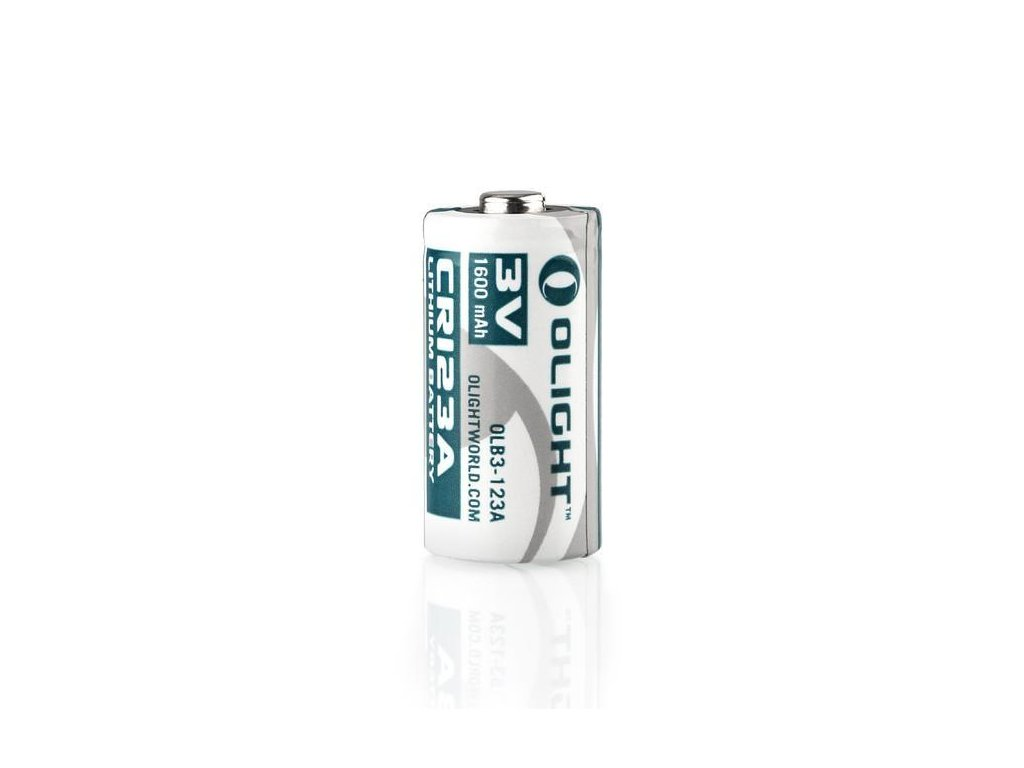 Olight -  Batéria OLIGHT CR123A/16340 - 1600mAh, Button Top, 3V