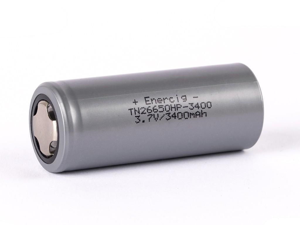 Enercig -  Akumulátor ENERCIG 26650HP - 3400 mAh, Flat Top, 3.7V, bez ochrany, 30A