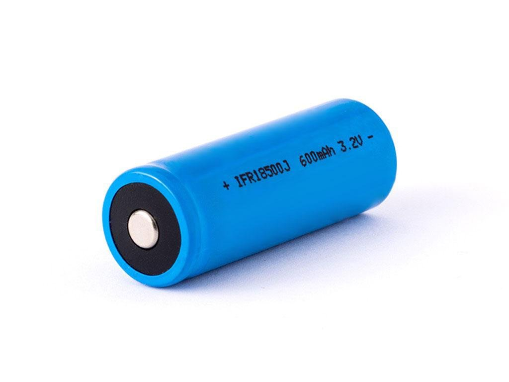 IFR -  Akumulátor IFR 18500 - 600 mAh, Button Top, 3.2V, bez ochrany, 5.5A (LiFePo4)