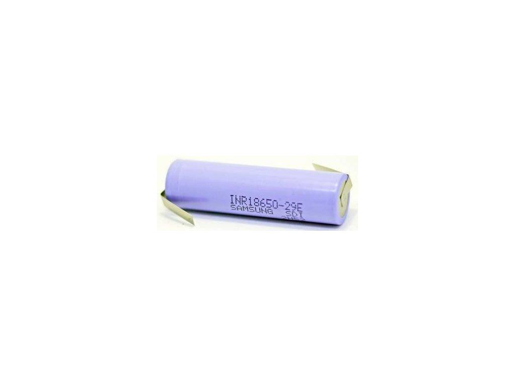 Samsung SDI -  Akumulátor SAMSUNG SDI INR18650-29E - 2900 mAh, 3.7V, bez ochrany, 10A, + Výstup U