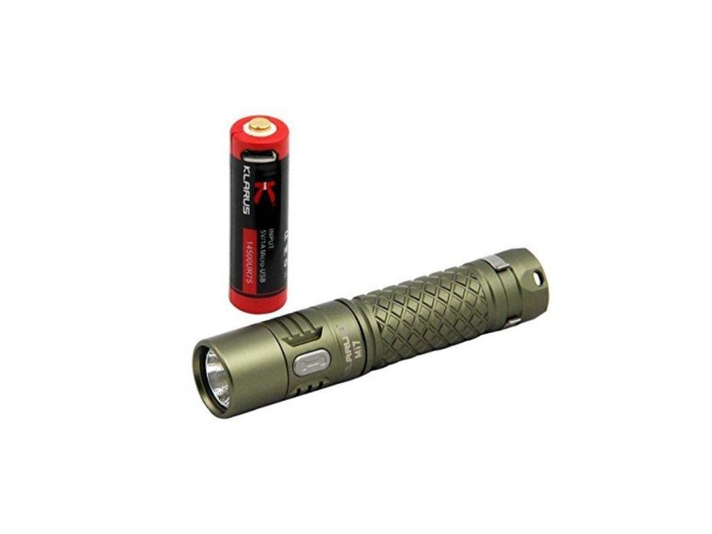 Klarus -  LED Baterka KLARUS Mi7 - OLIVOVÁ (CREE XP-L HI V3 LED)