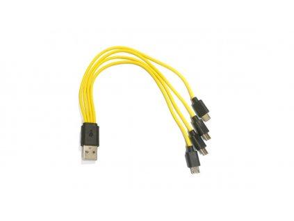 Štvoritý nabíjací micro USB kábel