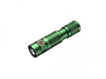 Nabíjateľná baterka Fenix E05R - zelená