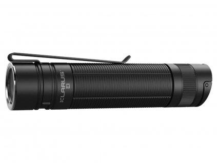 Klarus -  LED Baterka Klarus E1 + Li-ion Micro-USB akumulátor 2600mAh 3,7V