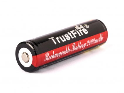 Trustfire -  Akumulátor TRUSTFIRE - 18650 (Li-ion) 2400 mAh, BUTTON, s ochranou