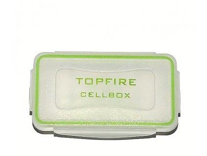 TOPFIRE -  Vodotesný box-púzdro na Li-ion akumulátory 18650 /16340