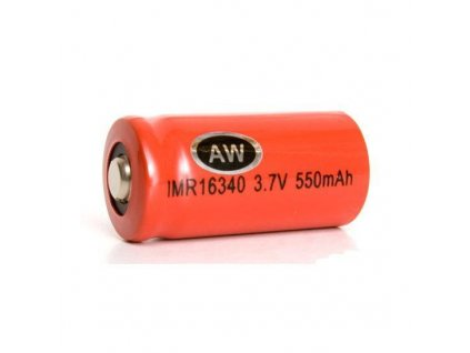 AW -  Akumulátor AW - IMR16340 (Li-Mn) 550 mAh, BUTTON, bez ochrany