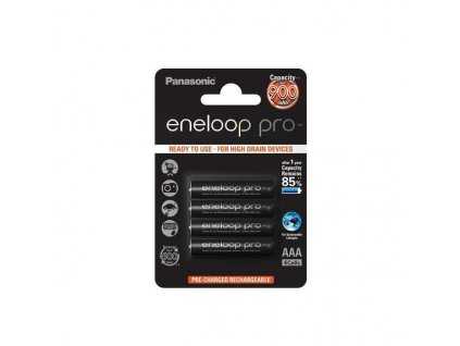 Panasonic Eneloop -  Akumulátory PANASONIC ENELOOP PRO - Ni-MH (AAA Micro), 900 mAh - balenie 4ks