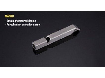 Nitecore -  Nitecore píšťalka bezpečnostná 120dB NWS10