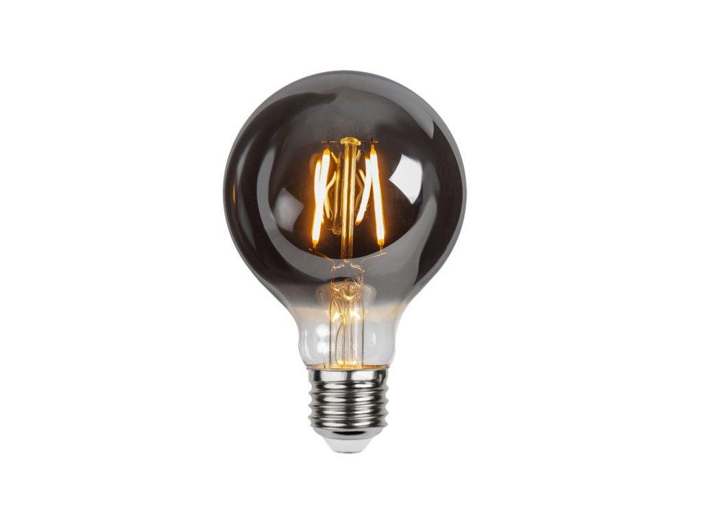led ziarovka filament e27 g80 1 8w 80lm 2100k smoke b