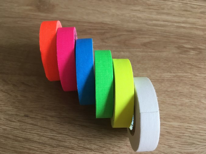 Mini protiskluzové pásky / Mini Gaffer 12 mm/5,8 m