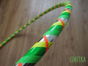 fitness hoop obruč 95 cm limetka