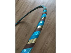 Fitness obruč zlatonka modrá