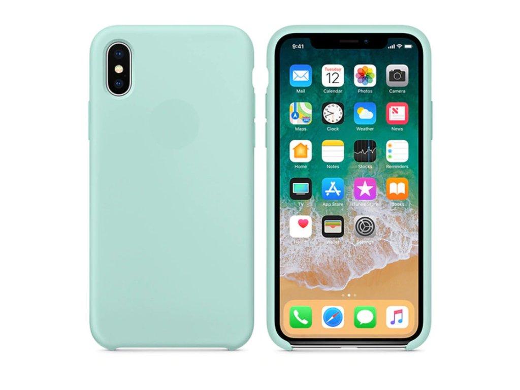 Silikonové pouzdro pro iPhone X, mořská modř